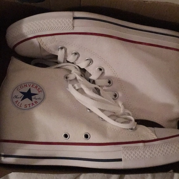 41cf0c99335158 Converse Shoes - White Wedge Converse All-Star Size 9